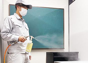 全校舎に抗ウイルス・抗菌コーティング