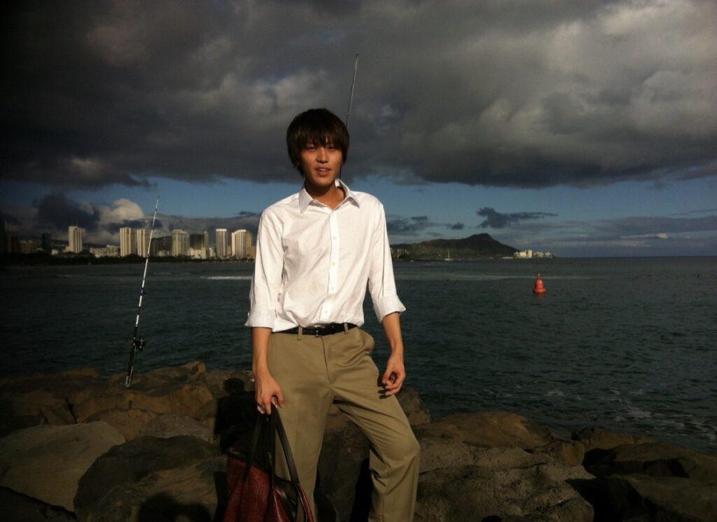留学時、ハワイに羽をのばしにいった中田さん